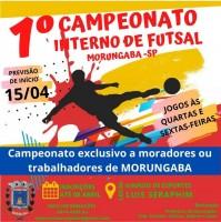 Diretoria de Esportes de Morungaba promove campeonato de futsal