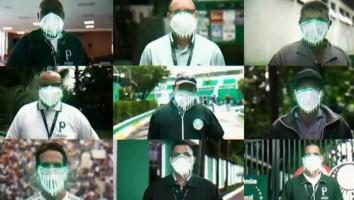 Em vídeo, Palmeiras diz que futebol voltará 'no momento certo e sem pressão'