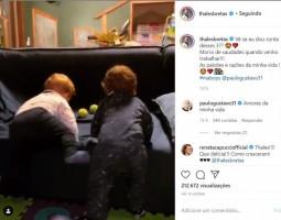 Marido de Paulo Gustavo compartilha vídeo com filhos brincando