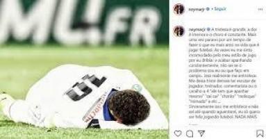 Neymar faz desabafo após nova lesão: 'Não sei até quando aguentarei'