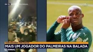 Patrick de Paula, volante do Palmeiras, é flagrado em festa clandestina em SP