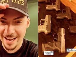 Filho de Bolsonaro provoca CPI da Covid ao mostrar armas em rede social