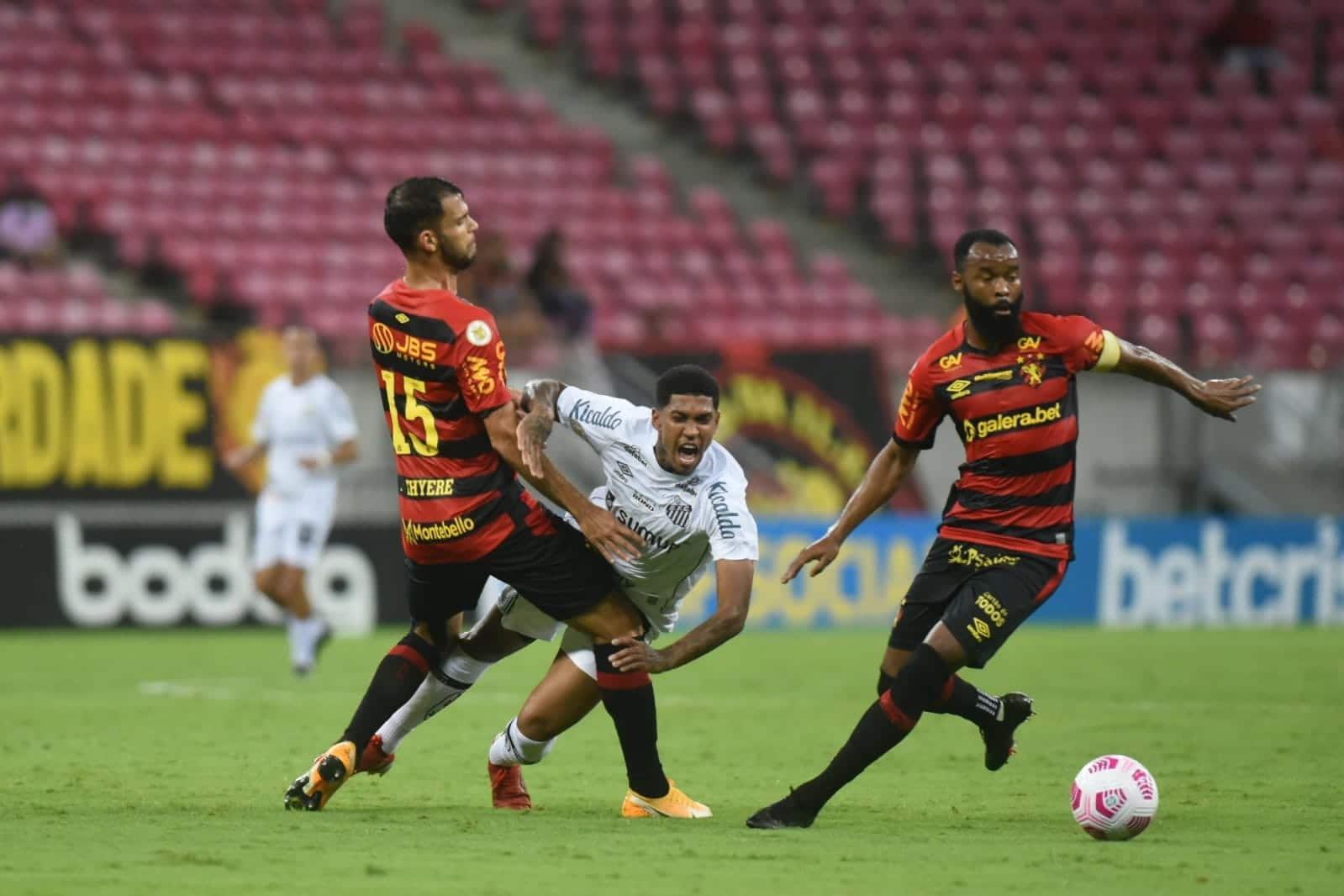 Santos empata com Sport fora e segue fora da zona de rebaixamento