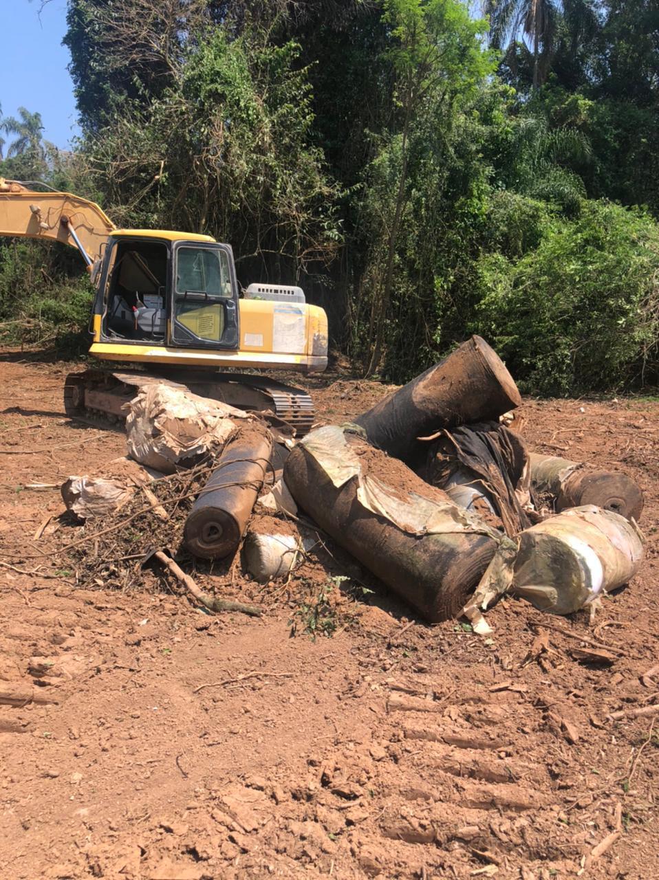 Secretaria de Obras inicia retificação do Ribeirão Jacaré próxima à foz com o Rio Atibaia
